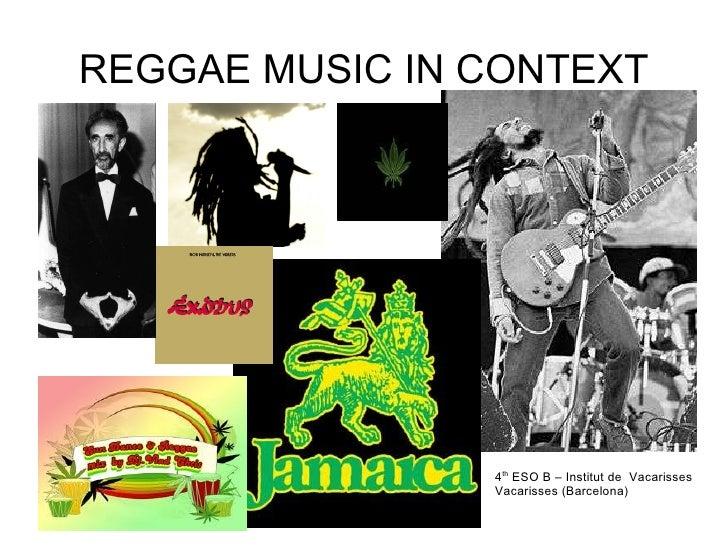 Reggae music in context