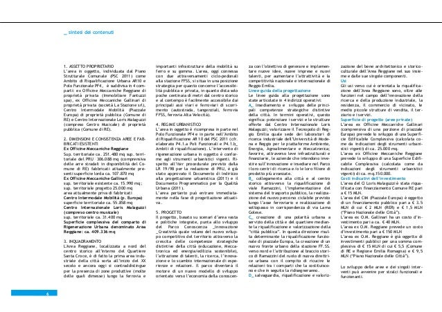 _ sintesi dei contenuti  1. ASSETTO PROPRIETARIO L'area in oggetto, individuata dal Piano Strutturale Comunale (PSC 2011) ...