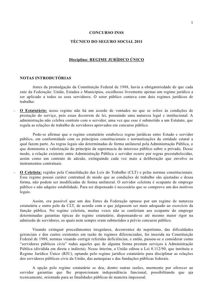1                                            CONCURSO INSS                                 TÉCNICO DO SEGURO SOCIAL 2011  ...