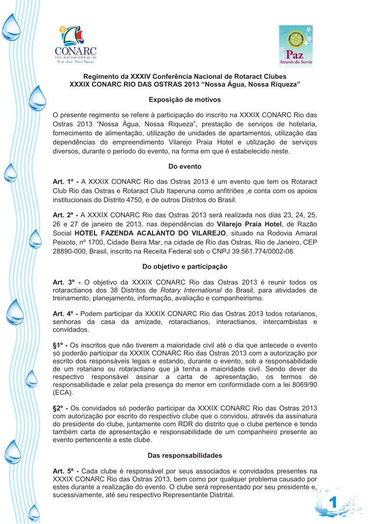 2013 • RIO DAS OSTRAS • RJ Nossa Água, Nossa Riqueza                             1