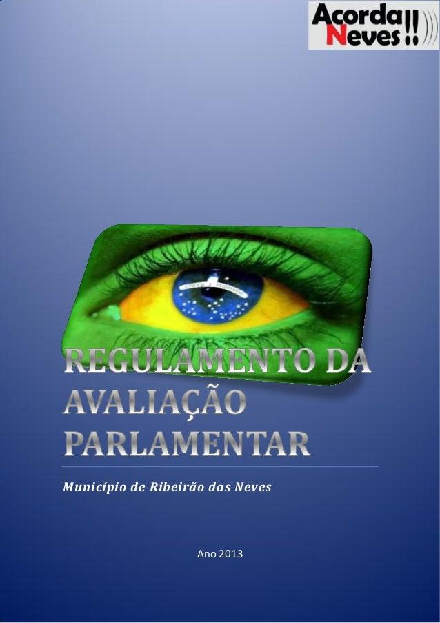 Regimento de avaliação dos parlamentares de rn