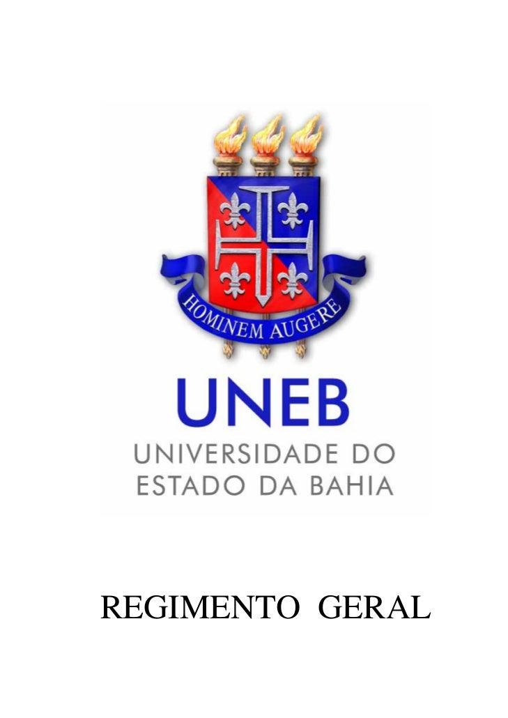 REGIMENTO GERAL