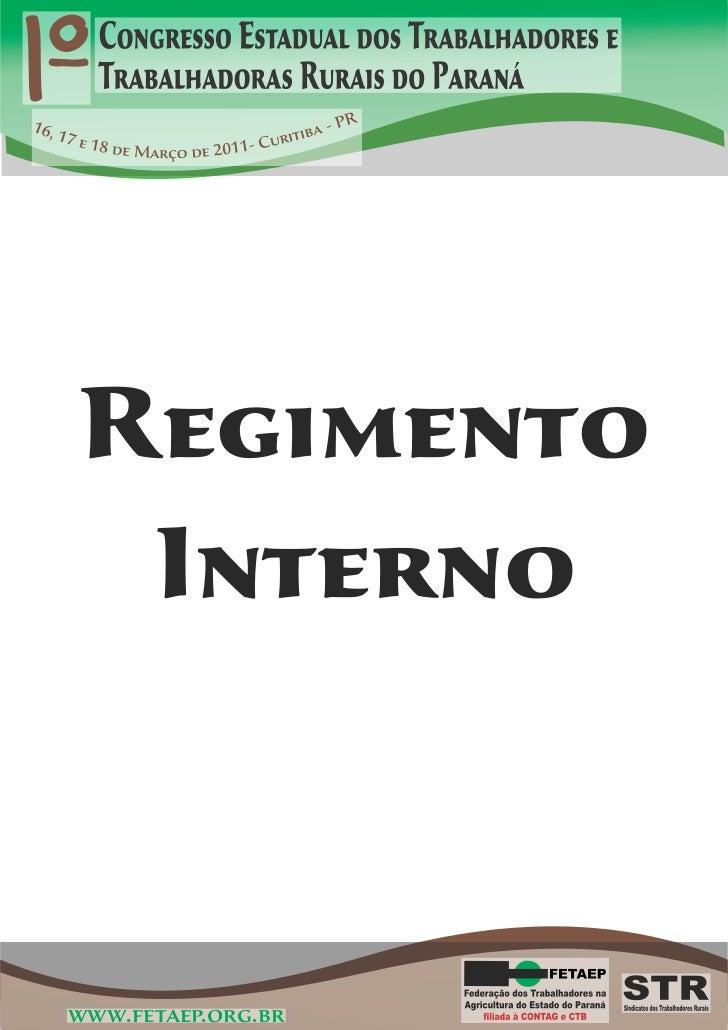 Regimento Interno - 1º CETTR