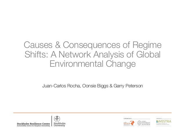 Causes & Consequences of Regime Shifts: A Network Analysis of Global Environmental Change Juan-Carlos Rocha, Oonsie Biggs ...