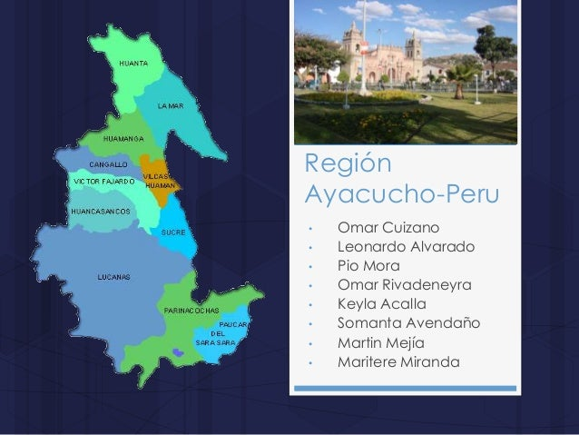 RegiónAyacucho-Peru• Omar Cuizano• Leonardo Alvarado• Pio Mora• Omar Rivadeneyra• Keyla Acalla• Somanta Avendaño• Martin M...