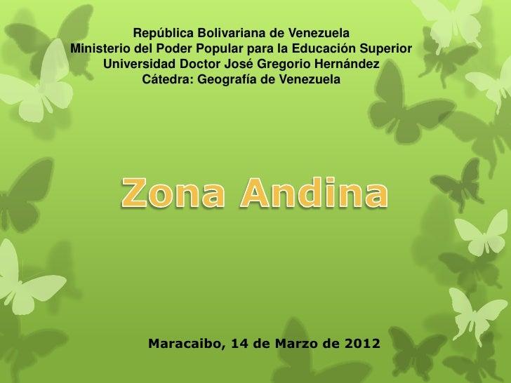 Región andina de Venezuela