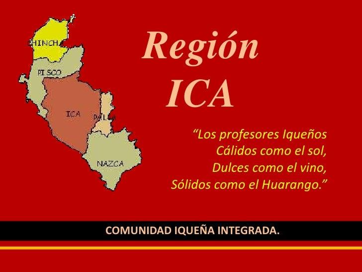 RegióN Ica
