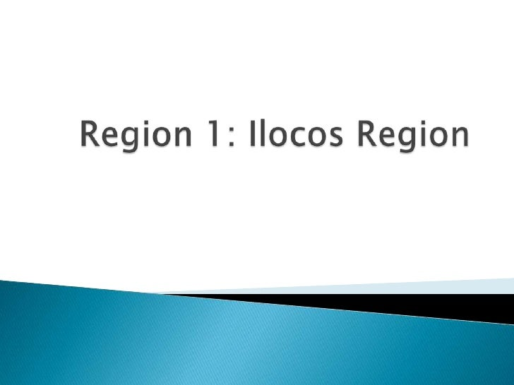 Region 1: IlocosRegion<br />