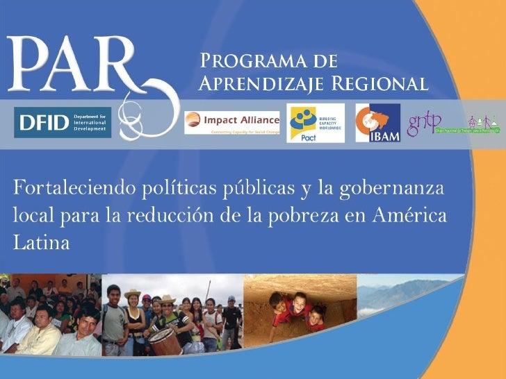 Programa de Aprendizaje Regional- Presentación en Español