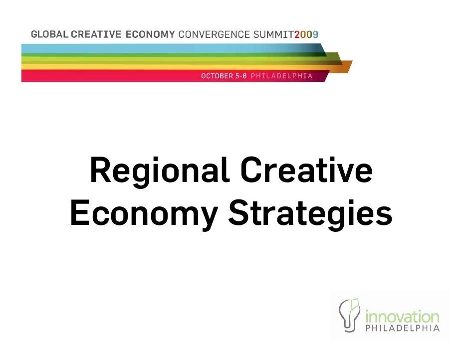 Regional Creative Economy Strategies