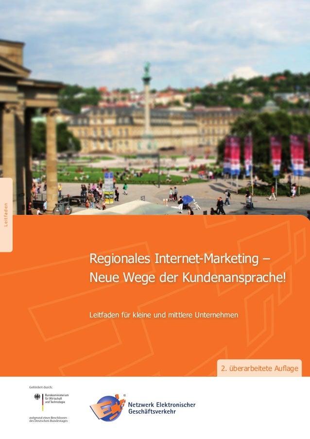 """www.ec-net.deDas Projekt""""Regionales Internet-Marketing""""Das Verbundprojekt """"Regionales Internet-Marketing"""" wirdgetragen dur..."""