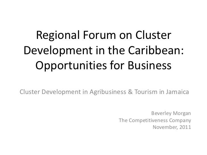 Regional Forum on Cluster Development in the Caribbean:   Opportunities for BusinessCluster Development in Agribusiness & ...