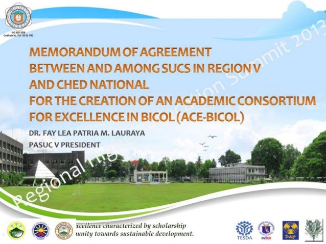 Regional Higher Education Summit Public He is MOA and Resolution