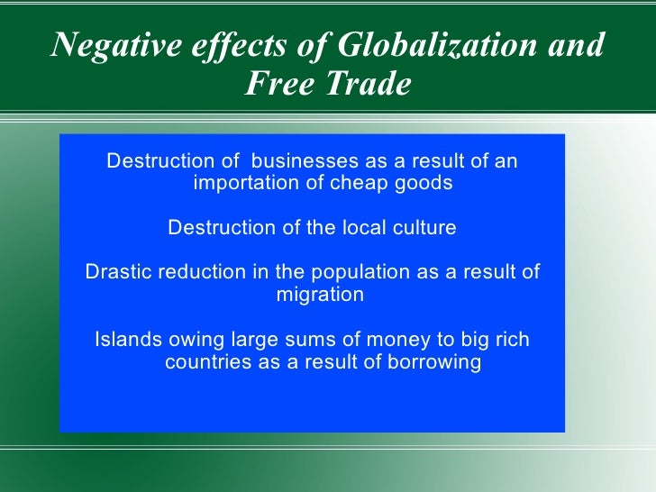 impact of globalization on the caribbean regional Impact of globalization on caribbean economies definition: 'globalisation is often described as a historical process that entails the increasing integration of, and interaction between.