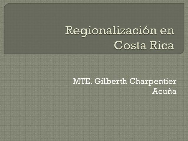 Regionalización en Costa Rica