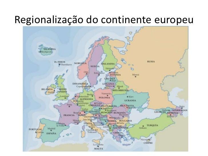 Regionalização do continente europeu