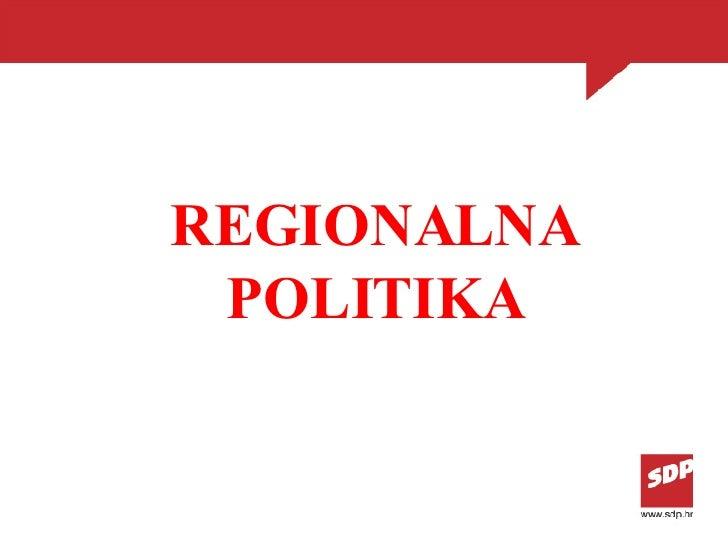 REGIONALNA POLITIKA
