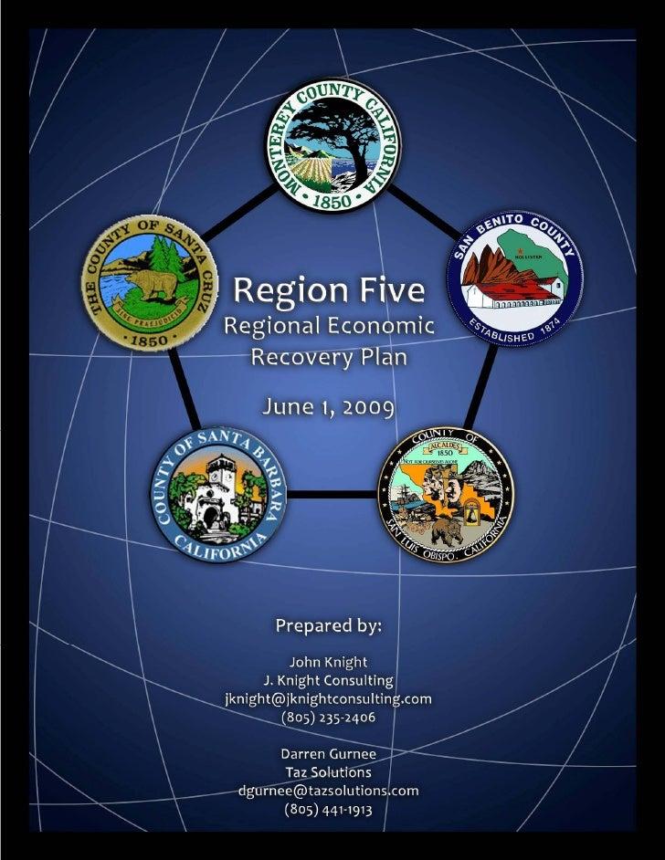 Regional Recovery Work Plan June 2009