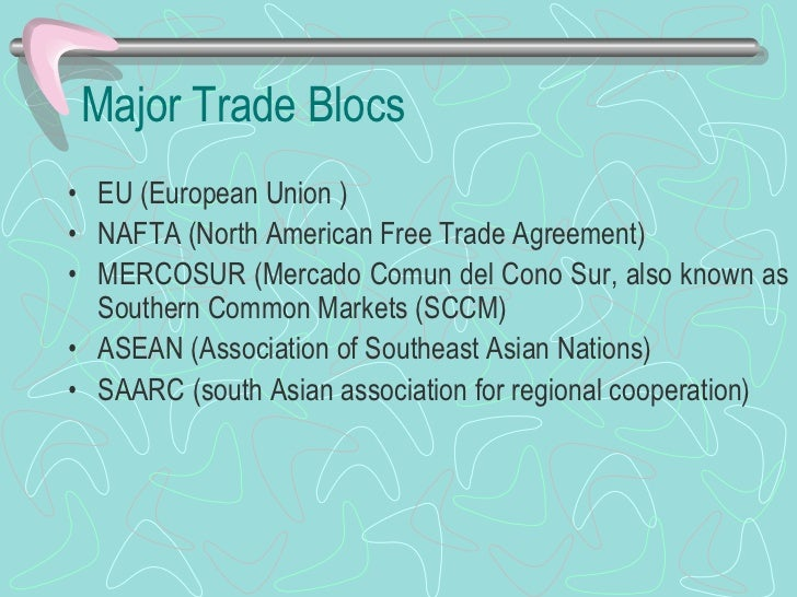 regional trade blocs What does trade bloc mean trade bloc meaning, definition & explanation source: wikipediaorg article, adapted under https:// creativecommonsorg/licenses/ license a trade bloc is a type of intergovernmental agreement, often part of a regional intergovernmental organization, where regional.