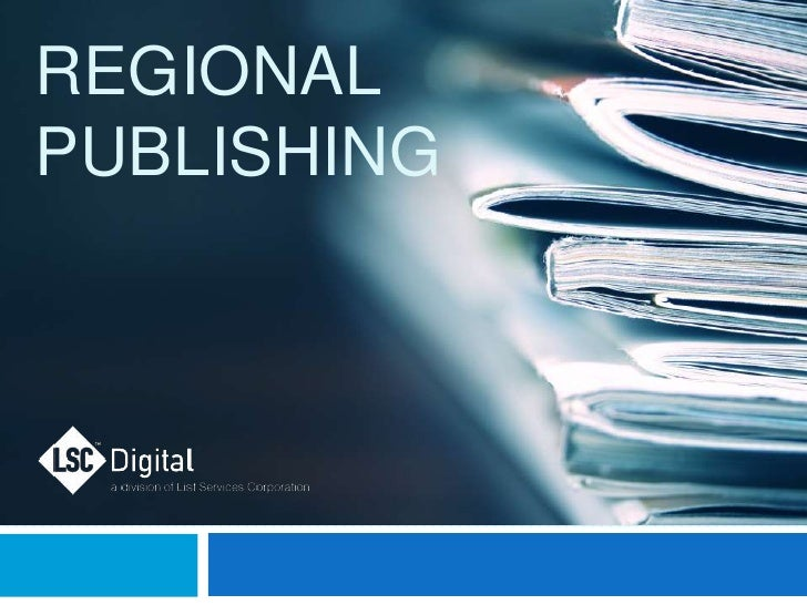Marketing Strategies Regional Publishers