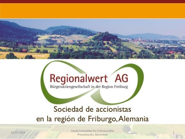 #OcupacioVerda Christian Hiss presenta Regionalwert AG