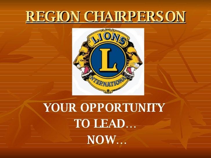 Region Chairperson