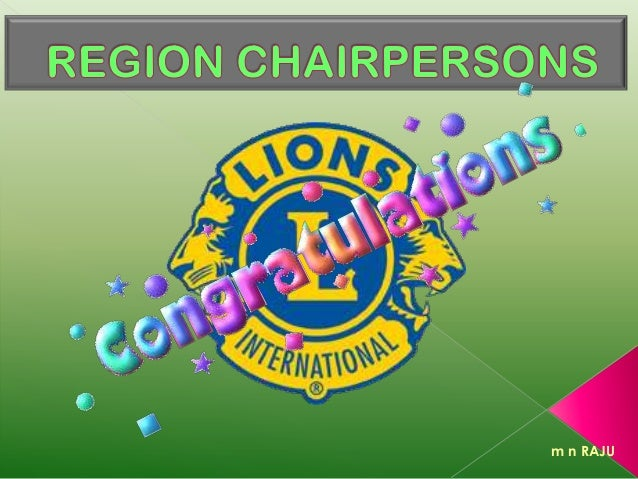 Region Chairperson - Role & Responsibility