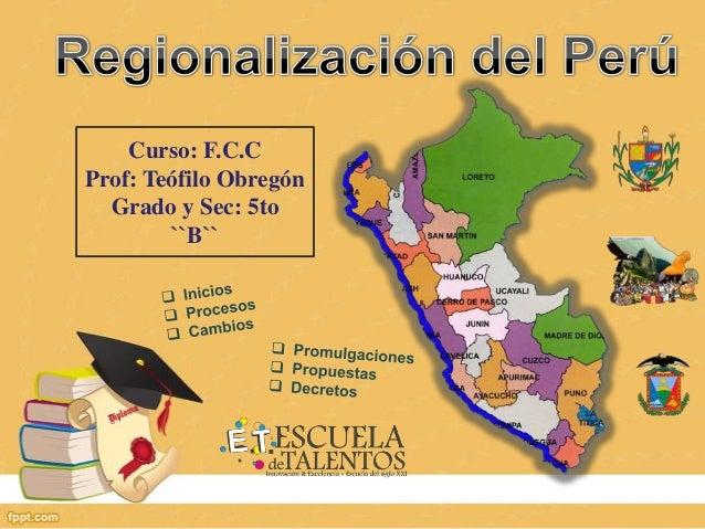Curso: F.C.C Prof: Teófilo Obregón Grado y Sec: 5to ``B``