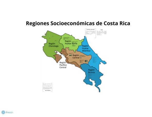 Regiones socioeconomicas de costa rica