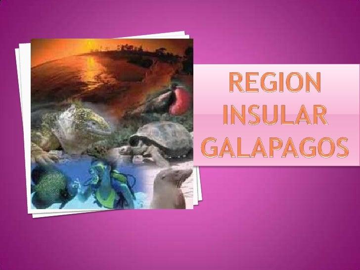 Region insular galapagos