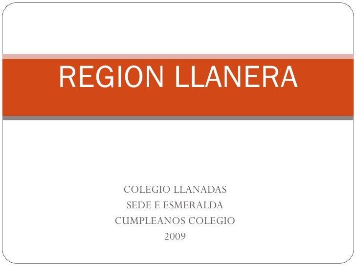 Region Llanera