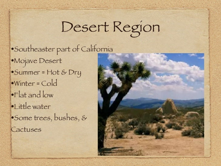 Natural Resources California Desert