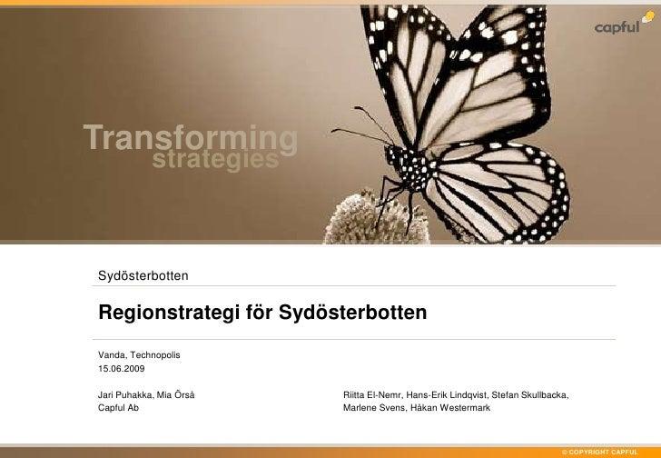 Regionstrategi för Sydösterbotten