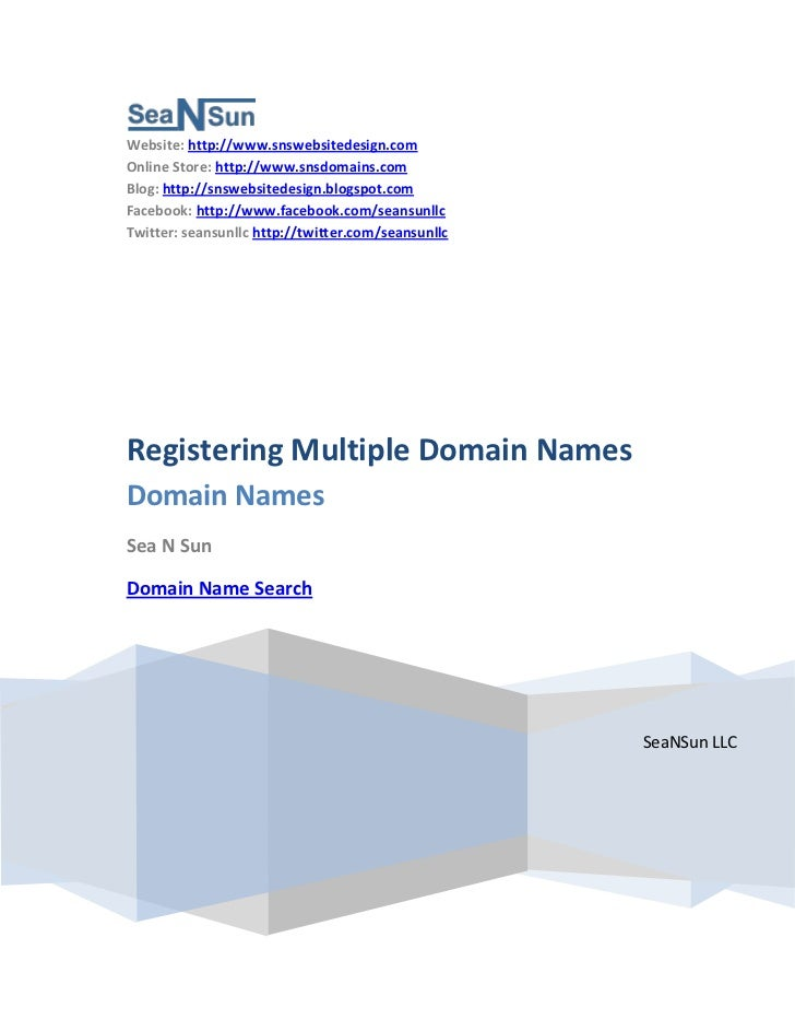 Registering more than one (multiple) Domain Name