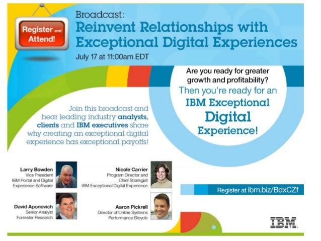 Register IBM Exceptional Digital Experience Webcast