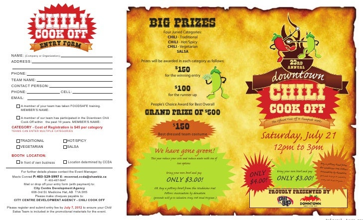 chili                   cook off                                                                                  Big Priz...
