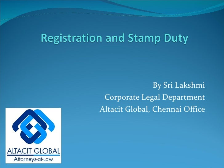 Registration and stamp duty