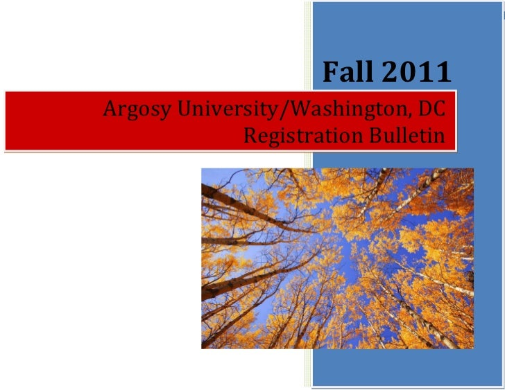 Registration Bulletin Fall 2011