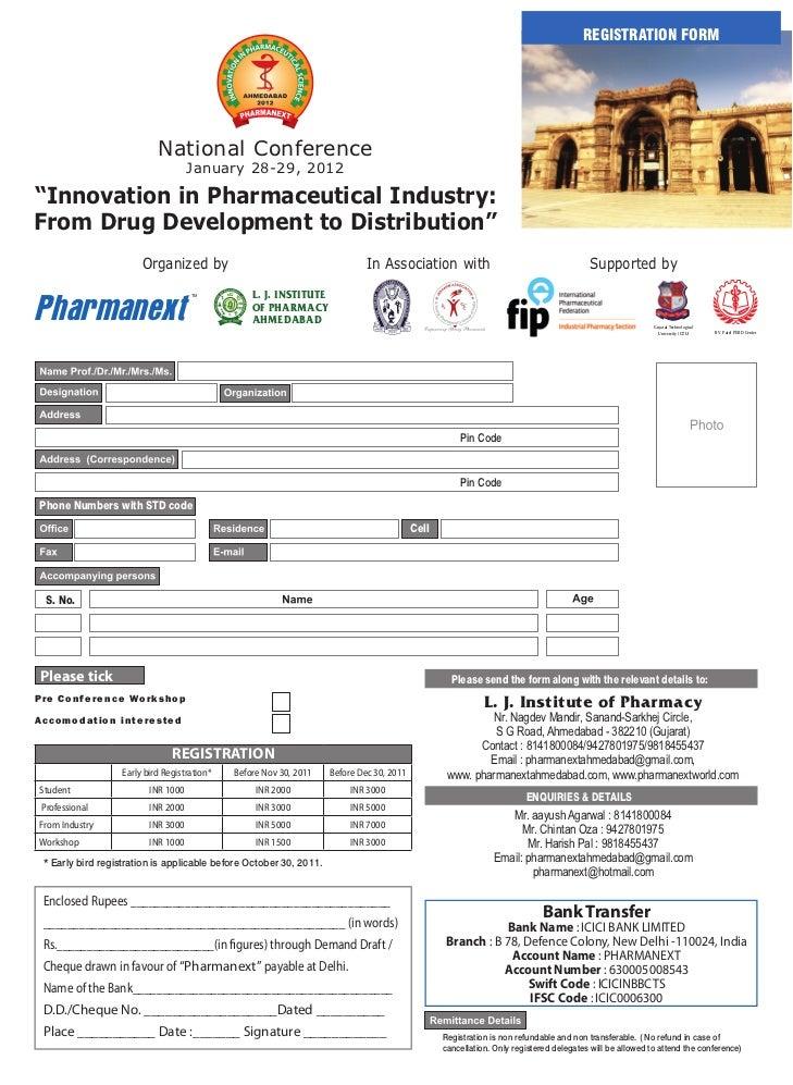 REGISTRATION FORM                             National Conference                                      January 28-29, 2012...