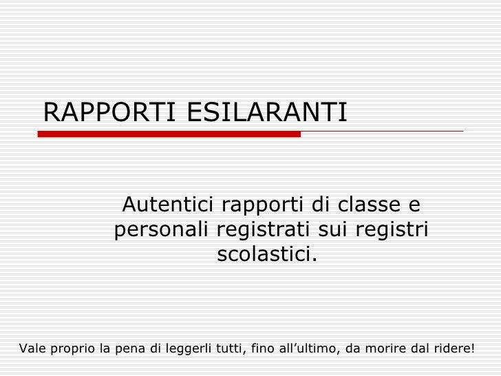 Registri Di Classe