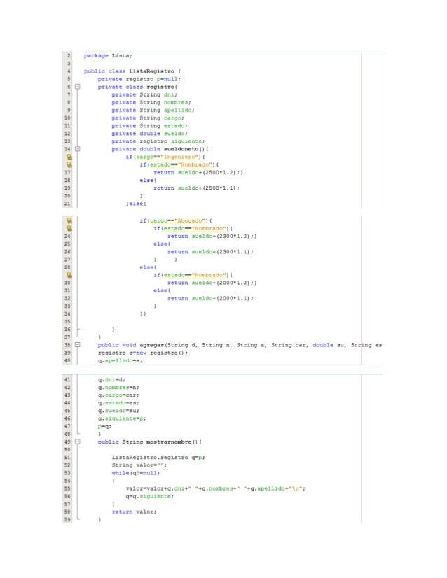 package Prueba;  importLista.ListaRegistro; import javax.swing.JOptionPane;  public class frmregistroventa extends javax.s...
