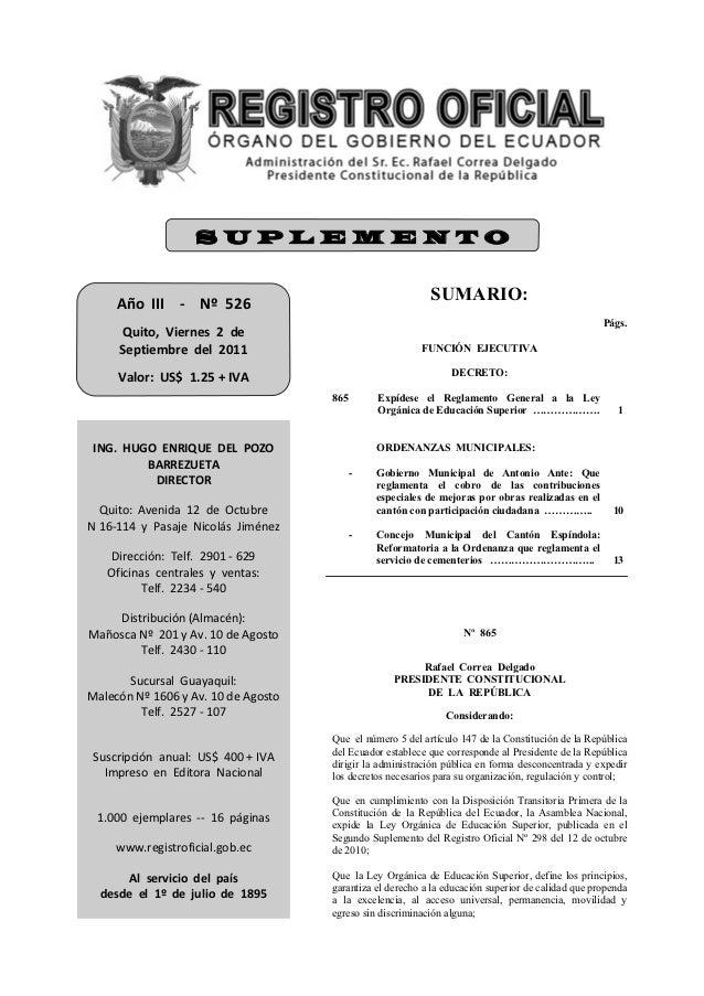 SUPLEMENTO     AñoIII‐Nº526                                                               SUMARIO:           ...