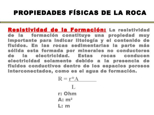 Registros de pozo utf 8 39 39 registros de pozo 1 for Formacion de la roca