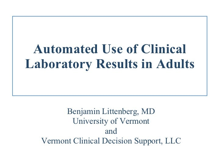 Automated Use of Clinical Laboratory Results