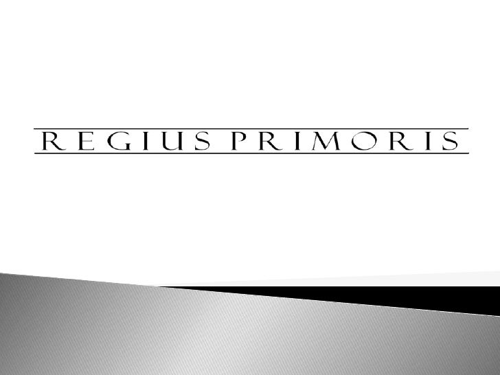    REGIUS PRIMORIS was established in the year 2010 as a gateway to promote and distribute    Australian manufactured pro...