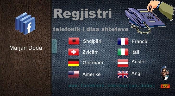 Regjistri telefonik i disa shteteve