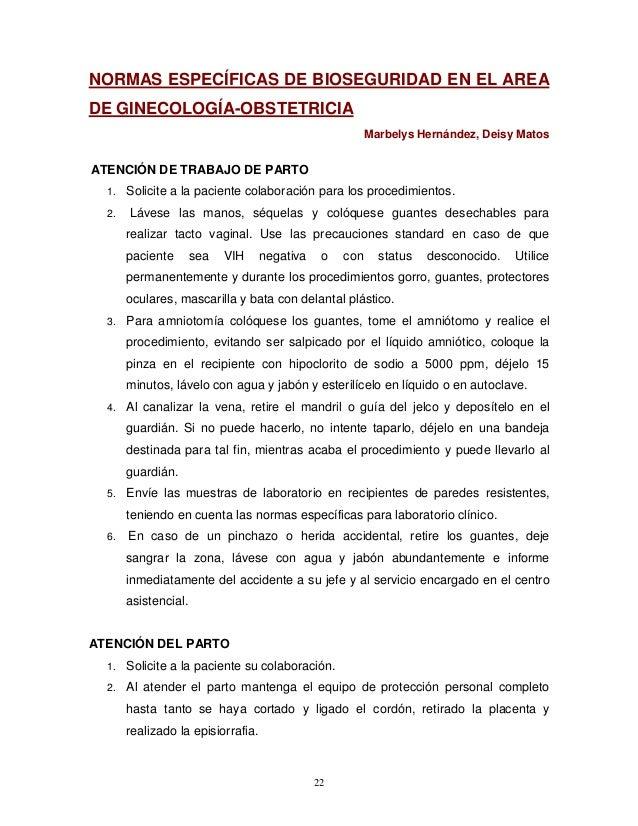 Reglamentaci n t cnica sobre procedimientos de bioseguridad para la p - Liquido preseminal vih casos ...