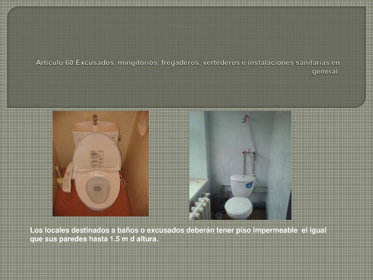 Regadera De Baño Tapada:Reglamento Ingenieria Sanitaria
