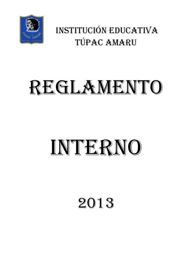 Reglamento interno-2013