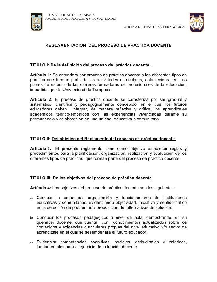 UNIVERSIDAD DE TARAPACÁ          FACULTAD DE EDUCACIÓN Y HUMANIDADES                                                      ...